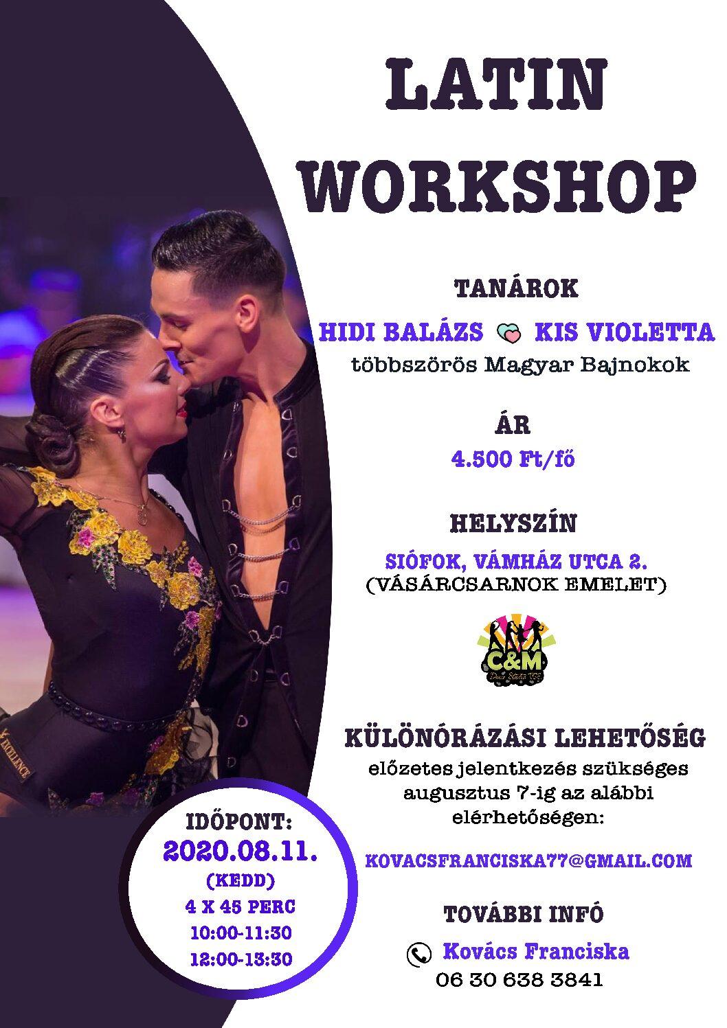 Latin Workshop Lettivel és Balázzsal