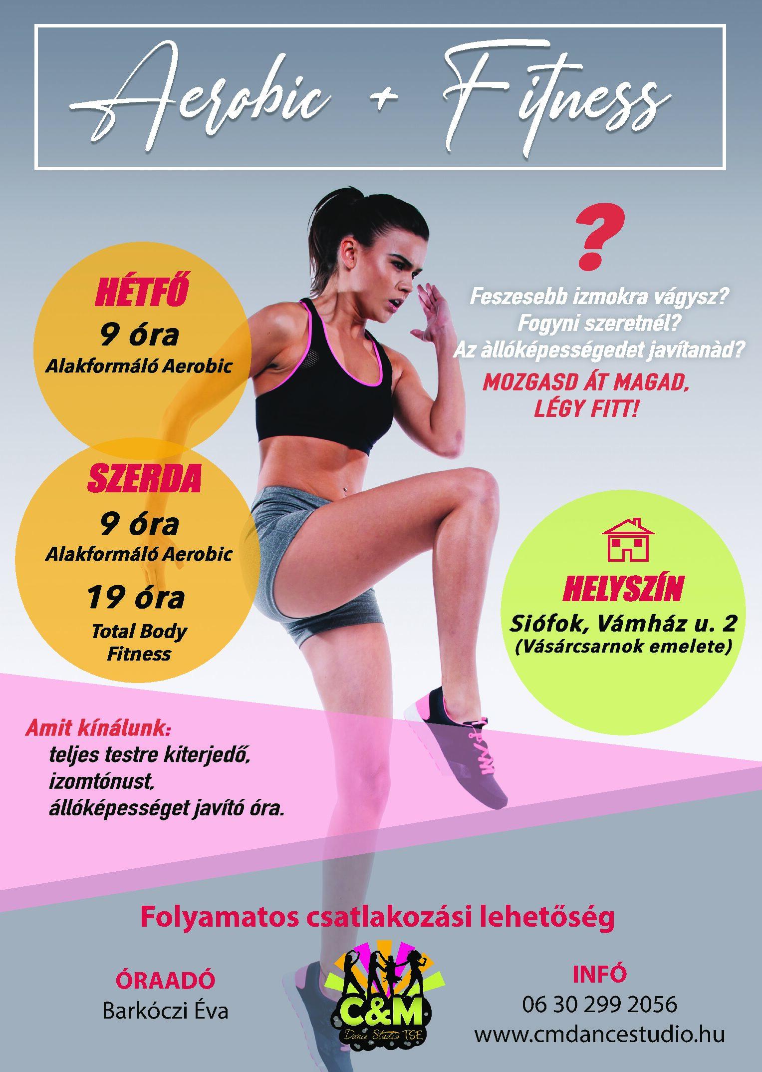 Aerobic és Fitness órák