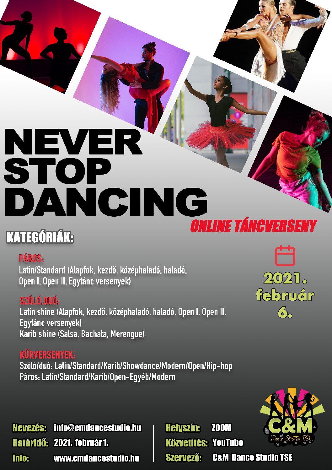 """""""Never Stop Dancing"""" – ONLINE – Hasznos információk"""